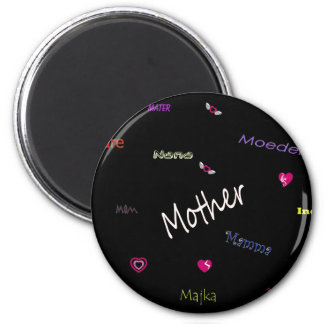 Mother - in many languages magnet