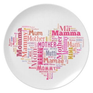 Mother In Many Languages Plate