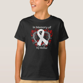 Mother - In Memory Lung Cancer Heart T-Shirt
