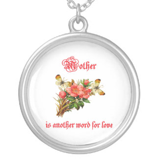 Mother is Another Word For Love (2) Silver Plated Necklace
