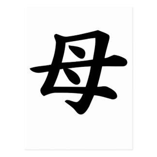 Mother - Japanese  Kanji Symbol Postcard