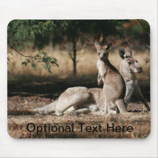 Mother Kangaroo and Joey Relaxing Mouse Pad