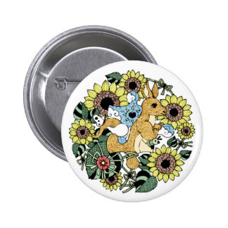 Mother kangaroo (Mother Kangaroo) Pinback Button