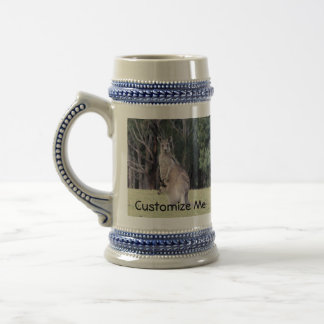 Mother Kangaroo with Baby Joey in Her Pouch Beer Stein