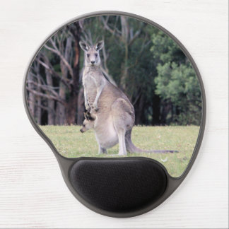 Mother Kangaroo with Baby Joey in Her Pouch Gel Mouse Pad
