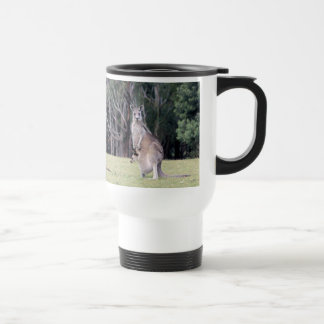 Mother Kangaroo with Baby Joey in Her Pouch Travel Mug
