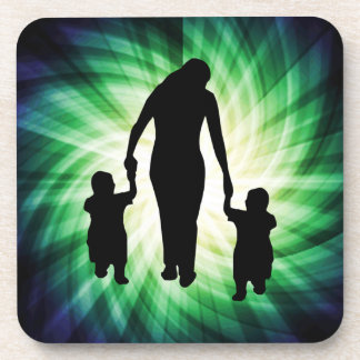 Mother & Kids; Cool design Beverage Coaster