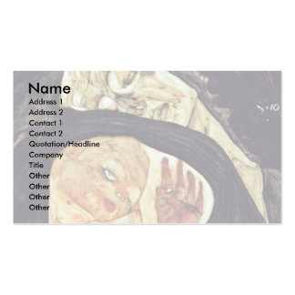 Mother Killed By Schiele Egon Double-Sided Standard Business Cards (Pack Of 100)