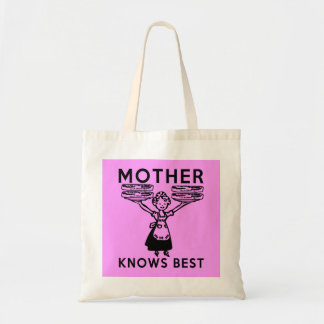 Mother Knows Best: Bacon! Budget Tote Bag