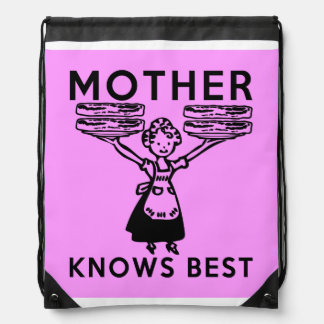 Mother Knows Best: Bacon! Drawstring Backpack