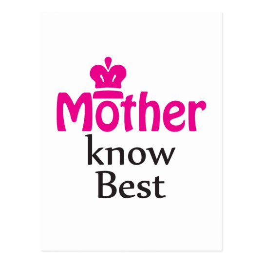 mother knows best postcard