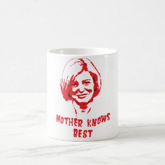 Mother knows. coffee mug