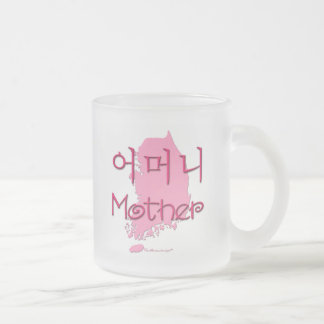 Mother (Korean) map Frosted Glass Coffee Mug