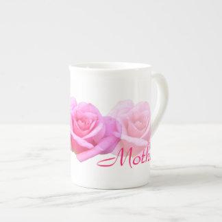 'Mother' Light Pink Roses Tea Cup