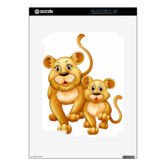 Mother lion and little cub decal for the iPad 2