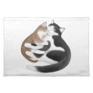 Mother Love Cats Placemat Cloth Place Mat