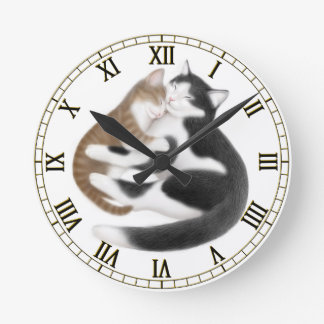 Mother Love Cats Wall Clock