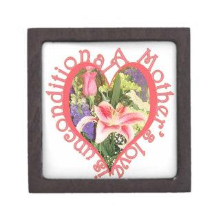 mother love is unconditional premium keepsake boxes