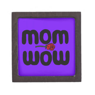 Mother Love Mom Wow with Rose Premium Gift Box