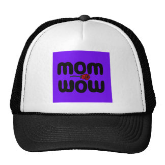 Mother Love Mom Wow with Rose Trucker Hat