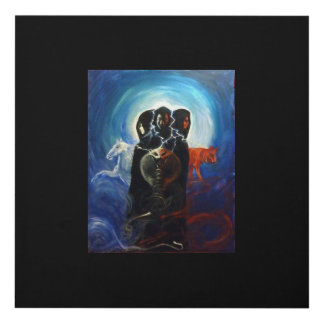 Mother,Maiden,Crone aspects of the Goddess..Pagan Panel Wall Art