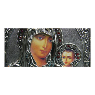 Mother Mary and Baby Jesus Book Mark Rack Card Design