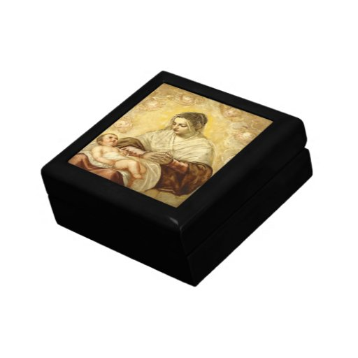 Mother And Baby Gift Box : Mother mary and baby jesus gift box zazzle