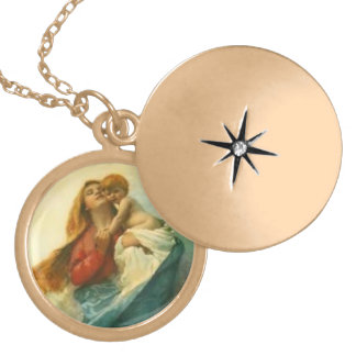 Mother Mary and Baby Jesus Necklace
