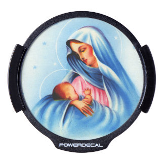 Mother Mary and Christ Child LED Window Decal