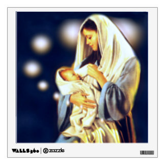 Mother Mary and Infant Child Jesus Wall Sticker