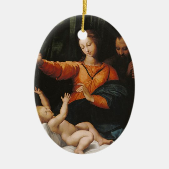 Mother Mary baby Jesus Ceramic Ornament