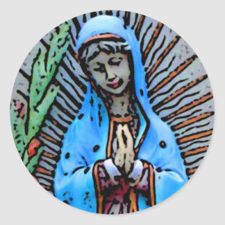 Mother Mary Classic Round Sticker