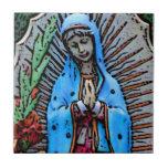 Mother Mary Folk Art Style Tiles
