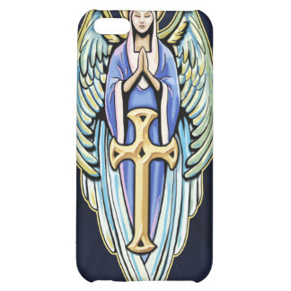 Mother Mary Guardian Angel Cross Design Case For iPhone 5C