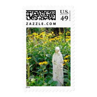 Mother Mary in the garder Stamps
