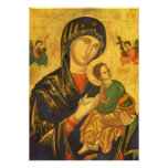 Mother Mary Madonna & Child Baby Jesus Poster