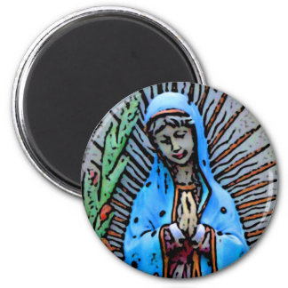 Mother Mary 2 Inch Round Magnet