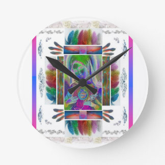 Mother Mary Series Round Clock