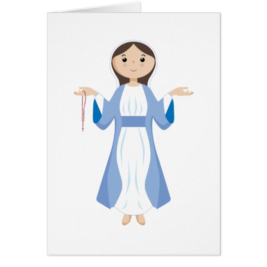 Mother Mary with Rosary Card