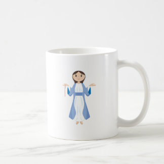 Mother Mary with Rosary Coffee Mug