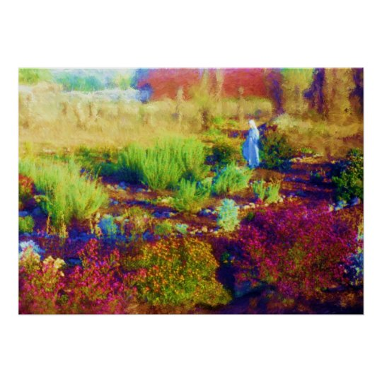 Mother Mary's Garden print