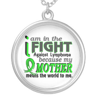 Mother Means The World To Me Lymphoma Round Pendant Necklace