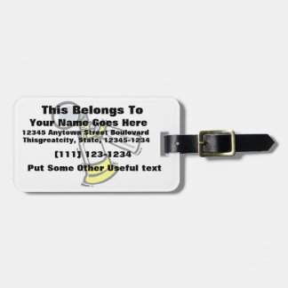 mother milk pump graphic luggage tag
