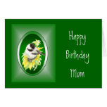 Mother, Mom, Birthday, Sunflower, Bird Greeting Card