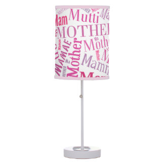 Mother Mom Mamma in Many Languages Table Lamp