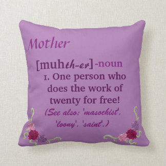 Mother/Mom Pillow Pastels purple