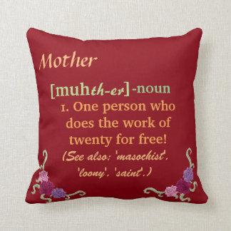 Mother/Mom Pillow Peach/Rust