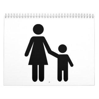 Mother mom son boy calendar