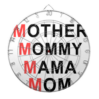 Mother, Mommy, Mama, Mom Dartboard With Darts