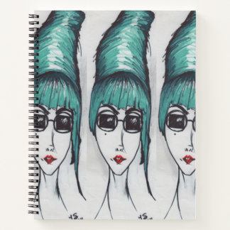 Mother Monster Sassy Beehive Pop Art Drawing Notebook